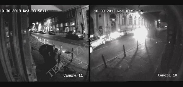 Interwencja wobec posła uchwycona przez kamery miejskiego monitoringu