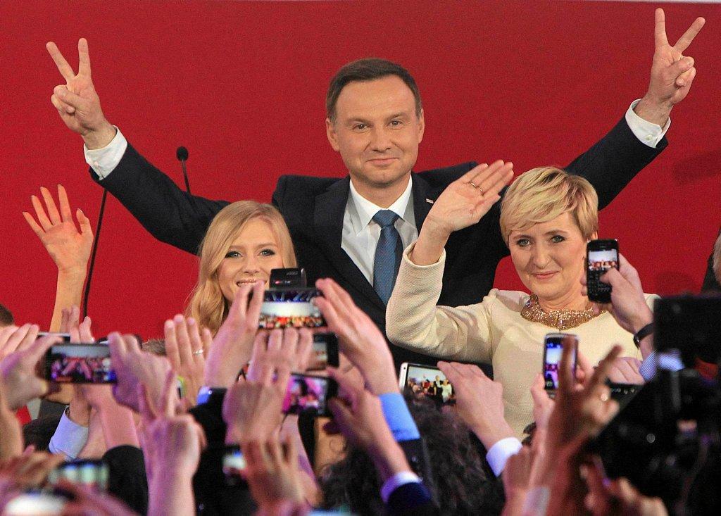 Reakcja Andrzeja Dudy i jego rodziny po ogłoszeniu wyniku wyborów prezydenckich