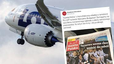 'Gazeta Polska' z homofobiczną okładką na pokładzie narodowego przewoźnika