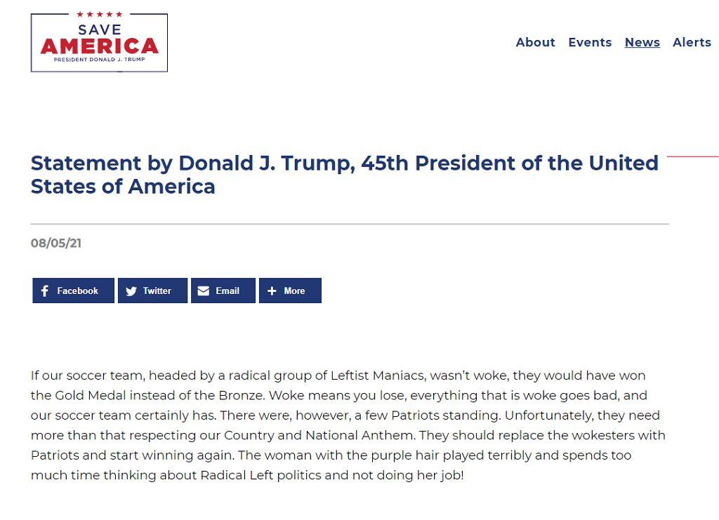 Oświadczenie Donalda Trumpa