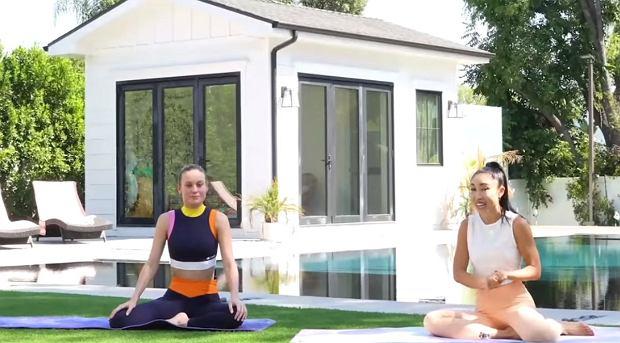 Trening Brie Larson