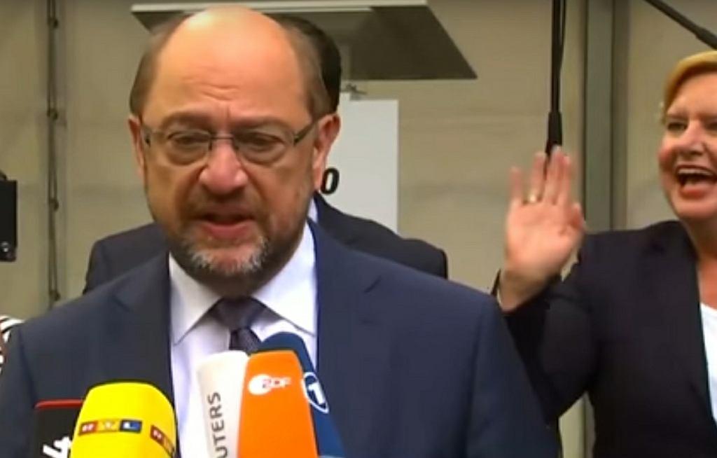 Konferencja prasowa Martina Schulza