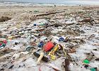 Morze Bałtyckie po sztormie wyrzuciło na brzeg nie tylko bursztyny. Plaża w Jantarze to wysypisko śmieci [ZDJĘCIA]