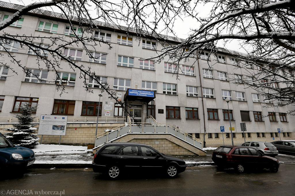 Szpital w Pińczowie, przed którym doszło do tragedii