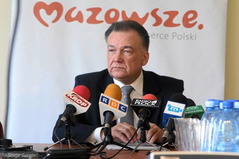 Adam Struzik na konferencji w Płocku w 2015 roku