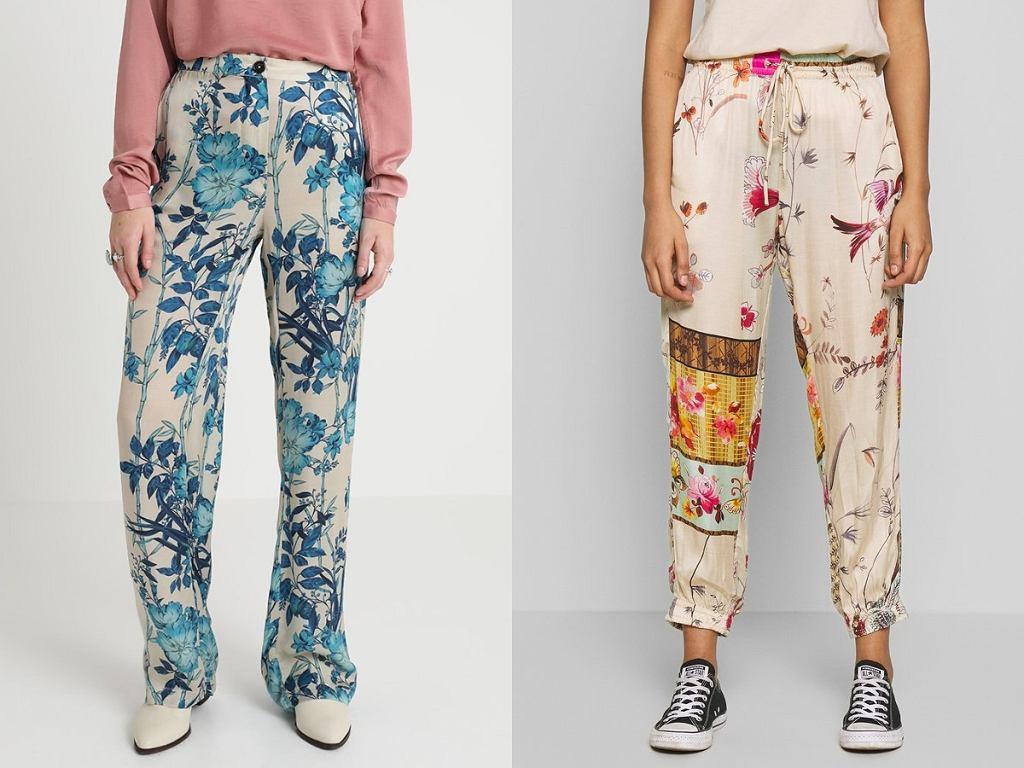 spodnie Replay we wzory