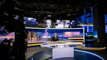 Studio TVN24 w siedzibie telewizji TVN. Warszawa, 25 sierpnia 2021