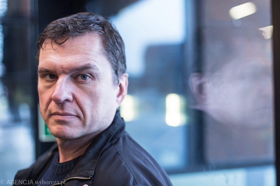 Dziennikarz Andrzej Poczobut jeszcze na wolności w 2015 r.
