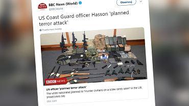USA. Oficer straży przybrzeżnej planował zamach terrorystyczny
