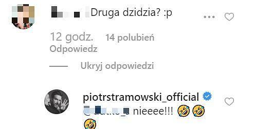Komentarze na profilu Piotra Stramowskiego