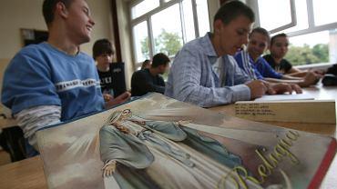 Lekcja religii w szkole średniej
