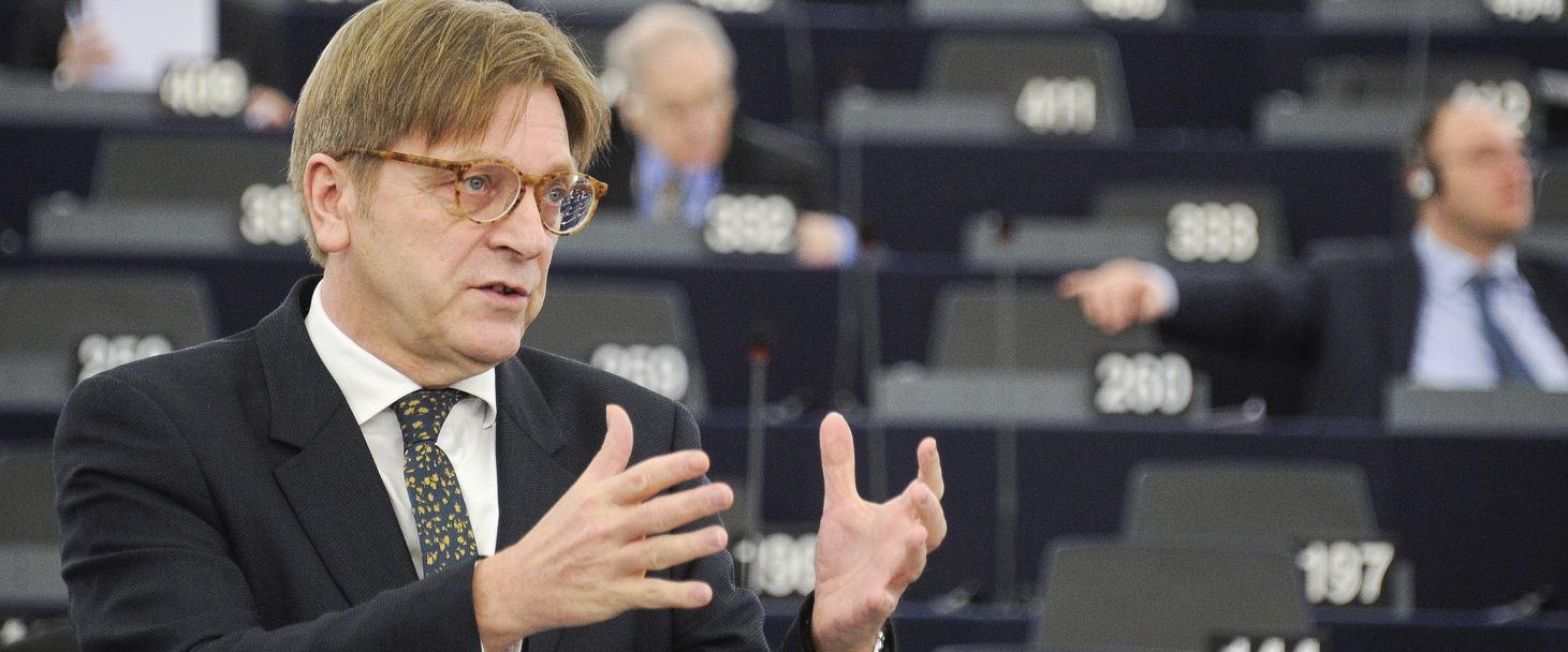 Guy Verhofstadt (fot. Sebastien Bozon/European Parliament)