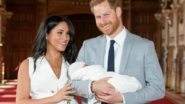 Książę Harry i Meghan Markle z synem Archiem