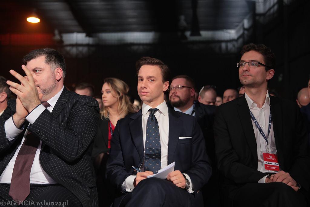 Krzysztof Bosak podczas prawyborów prezydenckich w Konfederacji