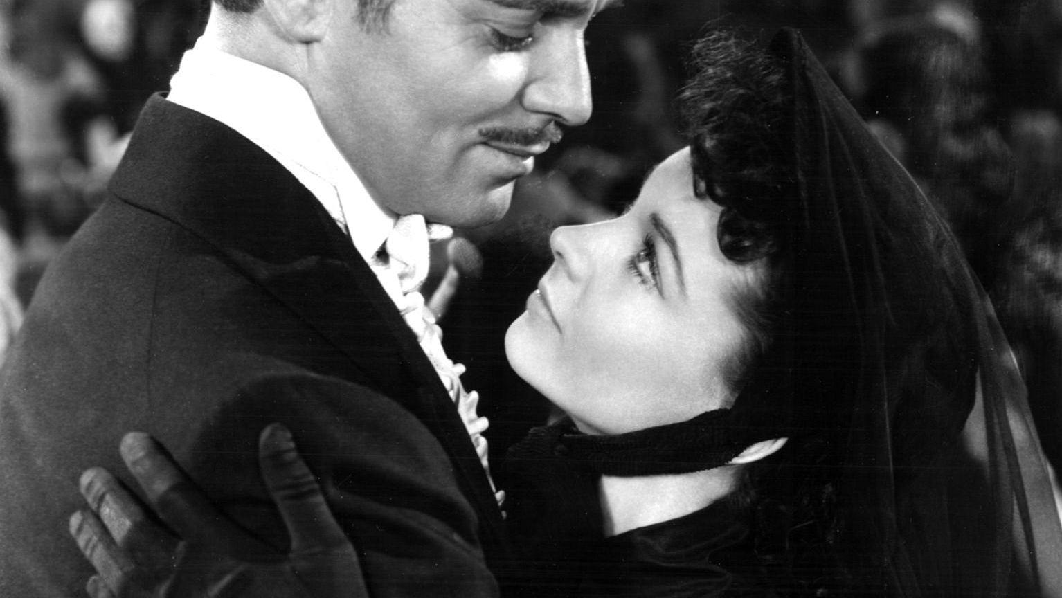 Vivien Leigh  i Clark Gable w 'Przeminęło z wiatrem'