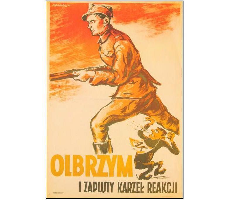 Komunistyczny plakat propagandowy 'Zapluty karzeł reakcji'
