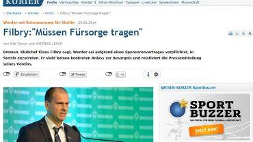Strona internetowa Wesser Kurier