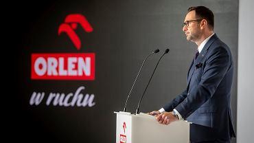 Daniel Obajtek prezentuje Orlen w Ruchu