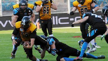 Seahawks Gdynia w finale Topligi futbolu amerykańskiego pokonali Panthers Wrocław