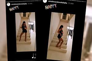 Anna Lewandowska pod koniec ciąży tańczy na schodach. Co za choreografia