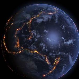 Na czerwono zaznaczone miejsca, gdzie najczęściej w ostatnich latach dochodziło do trzęsień Ziemi