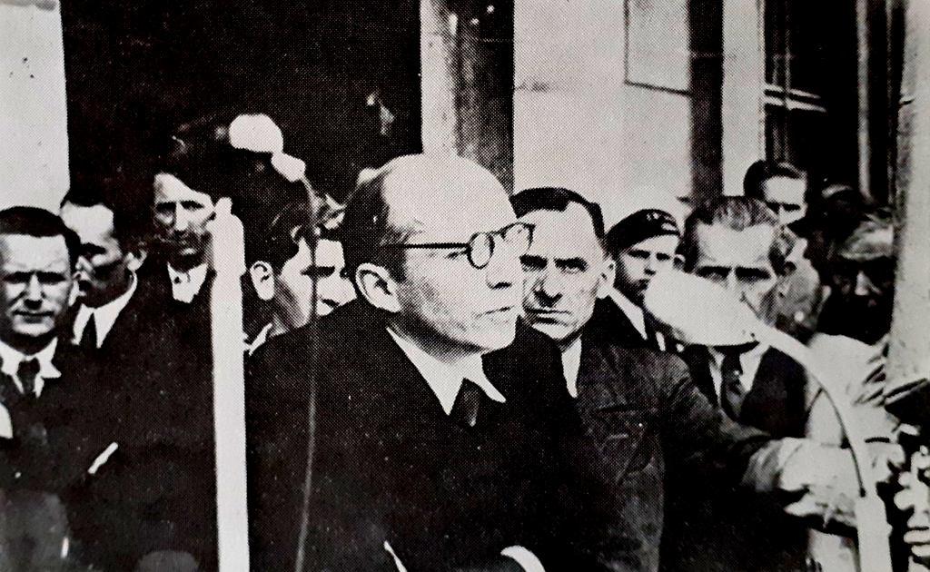 Prezydent Piotr Zaremba 13 maja 1945 r. na wiecu w Poznaniu zachęca  do osiedlania się w Szczecinie