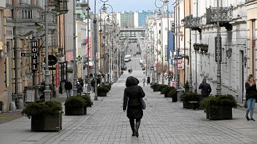 Kielce, 14 marca 2020. Pusta ulica Sienkiewicza podczas epidemii koronawirusa