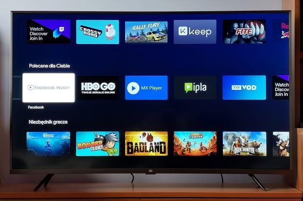 Android TV na telewizorze Xiaomi Mi TV 4S 43'