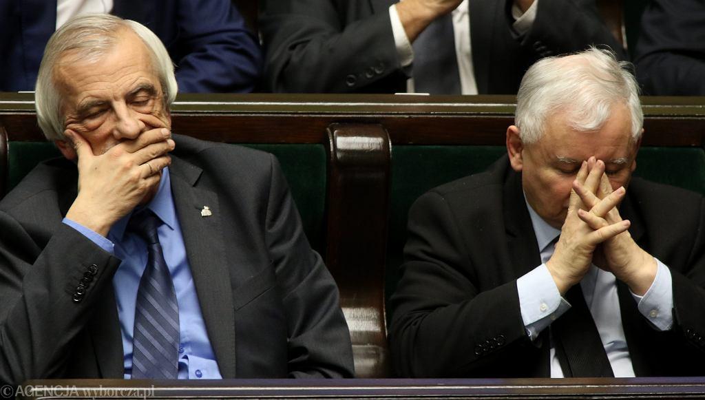 Wicemarszałek sejmu Ryszard Terlecki i prezes PiS Jarosław Kaczyński