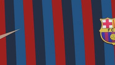 Projekt strojów FC Barcelona na sezon 2022/2023. Źródło: Footy Headlines (Twitter)