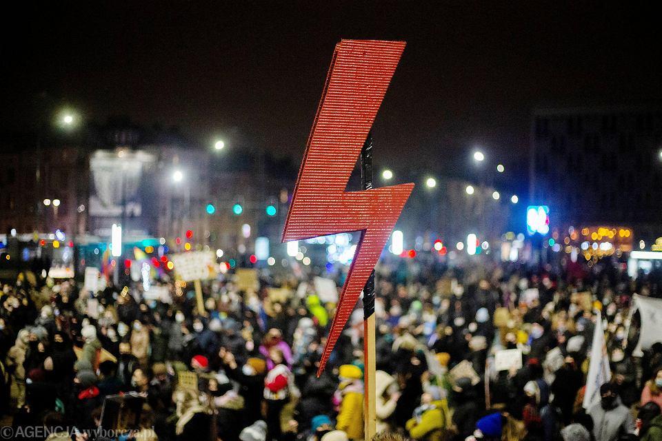 Protest Strajku Kobiet, Kraków,  29 stycznia 2021 r.