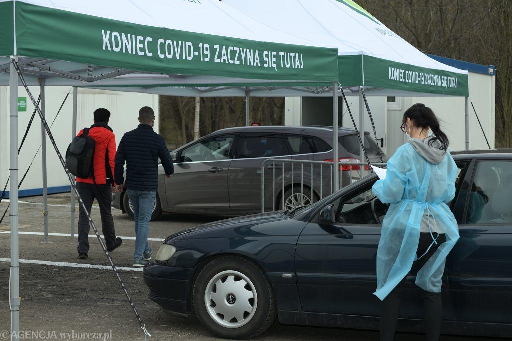 Epidemia koronawirusa - punkt szczepień w Wałbrzychu