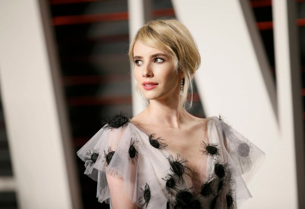 Actress Emma Roberts arrives at the Vanity Fair Oscar Party in Beverly Hills, California February 28, 2016.  REUTERS/Danny Moloshok