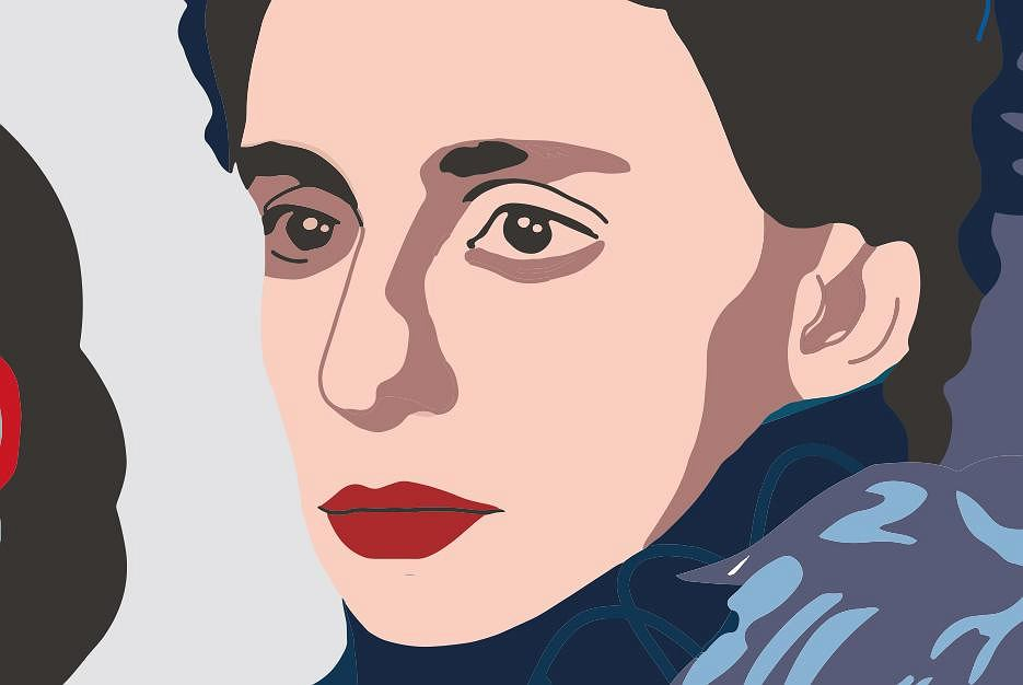 Joanna Szczęsna, fragment muralu 'Kobiety Wolności'