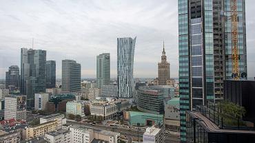 Panorama Warszawy z wieżowcami