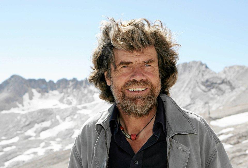 Reinhold Messner w 2005 na najwyższym szczycie Niemiec Zugspitze