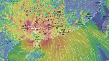 Tajfun Mangkhut dotarł do Hongkongu i południowych Chin