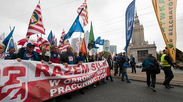 Protest OPZZ w Warszawie w  2013 r.