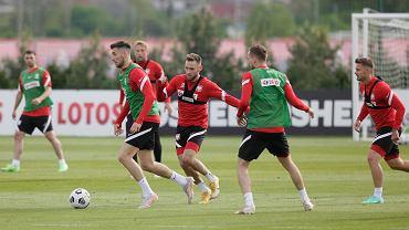 Trening reprezentacji Polski przed Euro 2020. Z piłką - Jakub Moder