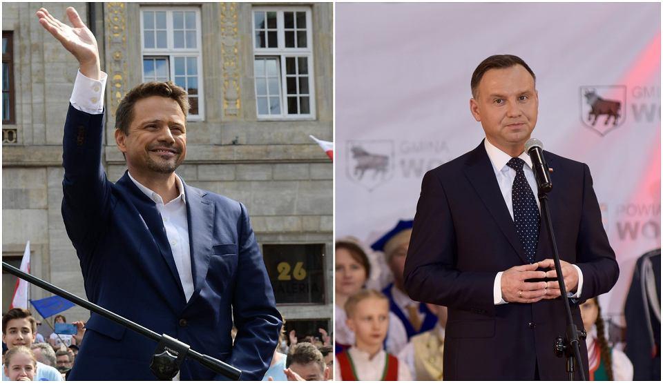 Wybory 2020. Rafał Trzaskowski i Andrzej Duda