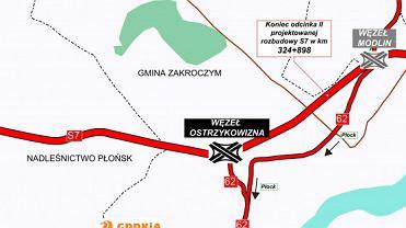 Trasa S7, Płońsk - Czosnów