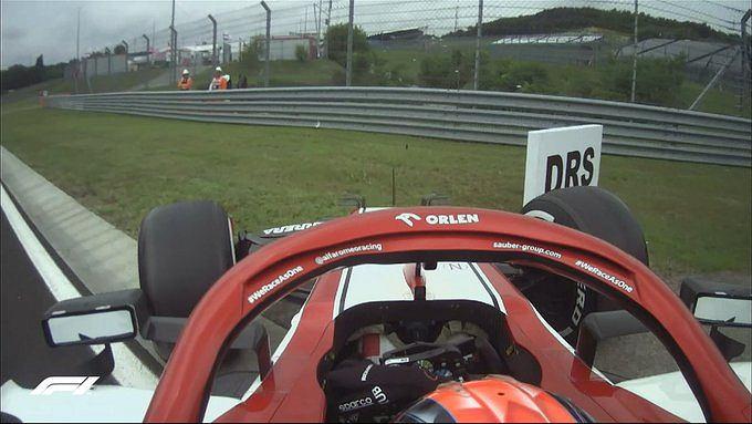 Robert Kubica na treningu przed GP Węgier