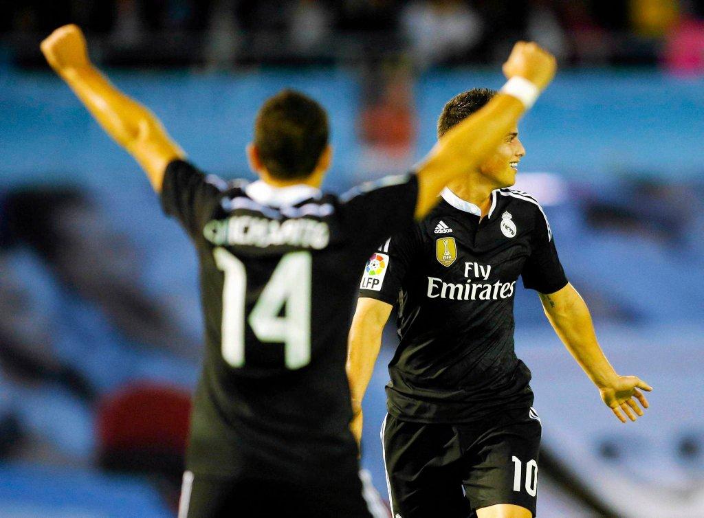 Celta Vigo - Real Madryt 2:4. Javier Hernandez i James Rodriguez