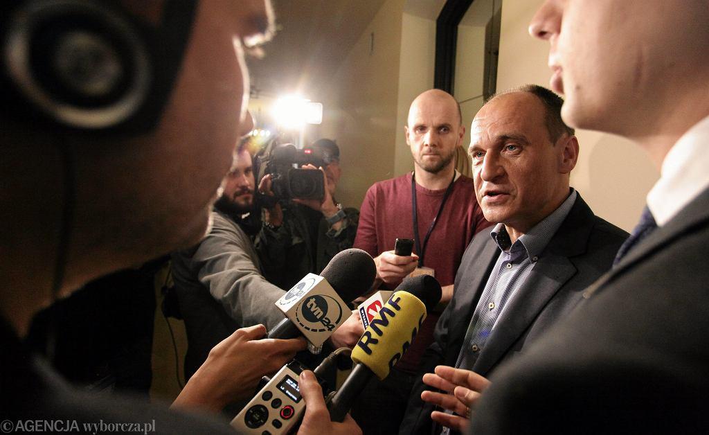 Paweł Kukiz z dziennikarzami