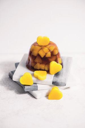 Galaretki z czerwonej herbaty i mango