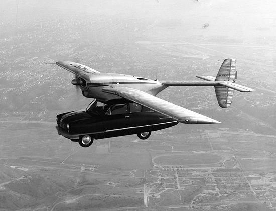 Convair Model 118 - jeden z pierwszych działających prototypów latającego samochodu - rok 1947