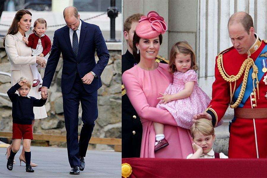 Książę George i księżniczka Charlotte to wzory dziecięcej elegancji