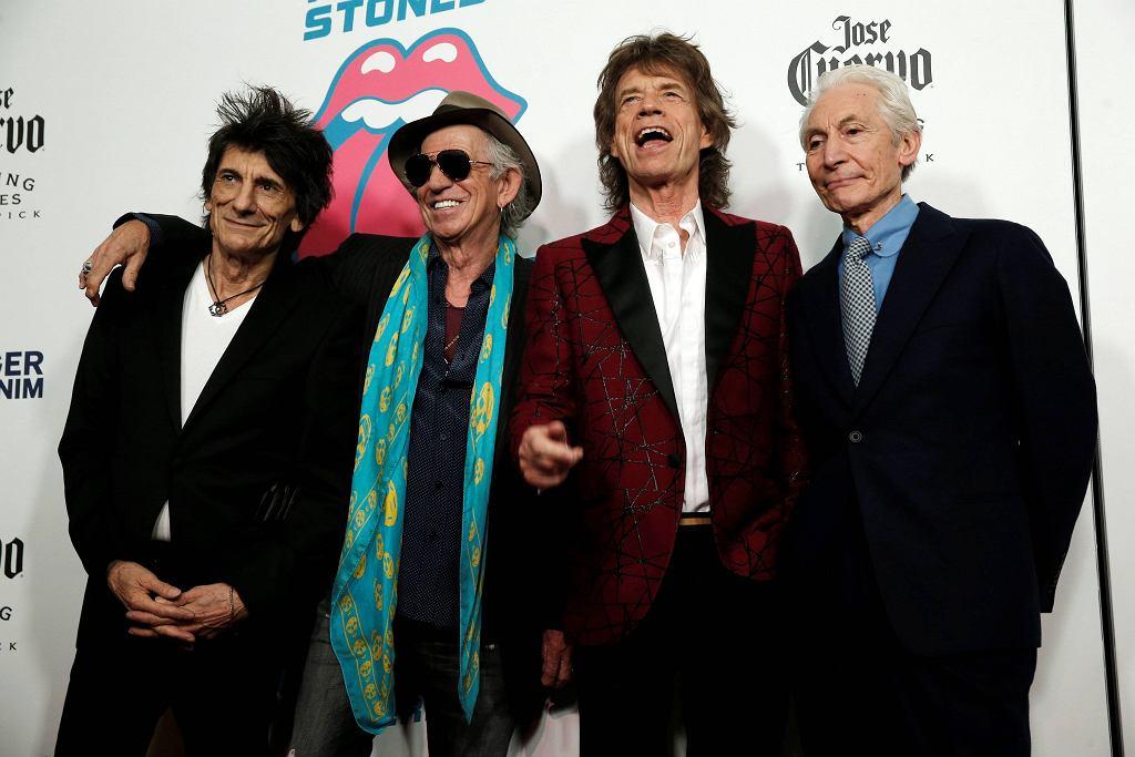 The Rolling Stones na otwarciu wystawy 'Exhibitionism: The Rolling Stones' w Nowym Jorku, 15.11.2016