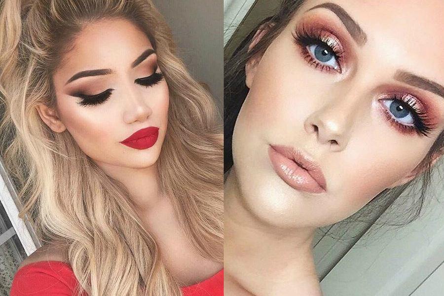 Kocie oko i czerwone usta to najpopularniejszy makijaż pasujący do czerwonej sukienki