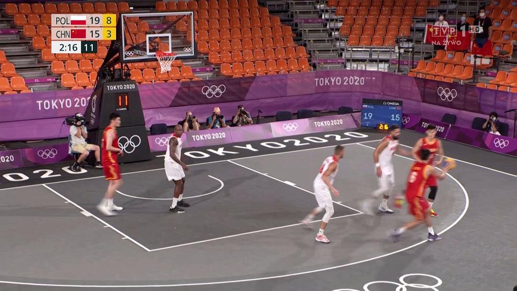 Mecz Polska - Chiny w koszykówce 3x3 na igrzyskach olimpijskich